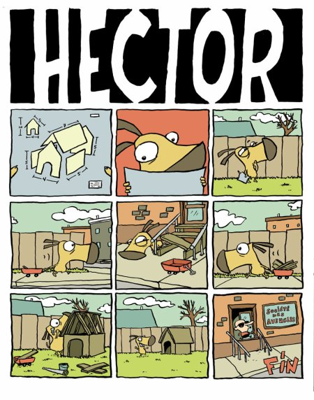 hector le chien con bd la comedie pathetique comic dog sébastien rivest